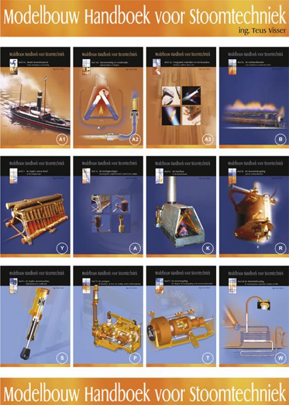 Modelbouw handboek voor stoomtechniek - 12 delige set